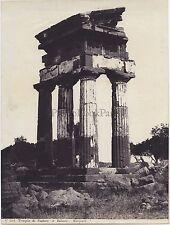 Agrigento Temple GrecSicile Italie Italia Vintage albumine ca 1875