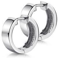 MATERIA Creolen Set 17,5mm breit - Damen Schmuck Silber 925 Ohrringe rhodiniert