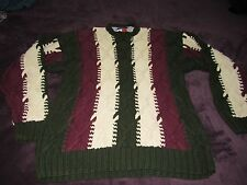 MENS VINTAGE TOMMY HILFIGER CABLE KNIT SWEATER SIZE XL GREAT SHAPE