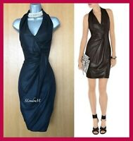 KAREN MILLEN UK 10 Black Jersey Soft Draped Cocktail Race Elegant Dress EU 38