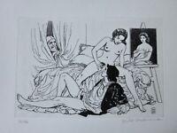 MILO MANARA LE VOYEUR Picasso Suite 347 gravure Radierung acquaforte etching