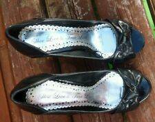 Ladies black red herring shoes Size 3