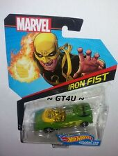 Hot Wheels Marvel IRON FIST Green Character Car #34 1:64 Diecast Green Purple