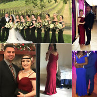 US Hot Lady Off-shoulder Long Bridesmaid Prom Gown Formal Evening Dresses 07017