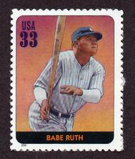 UNITED STATES, SCOTT # 3408-H, SINGLE STAMP OF BABE RUTH, BASEBALL LEGEND, MNH