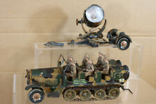 TIPP & CO GERMAN WWII CLOCKWORK HALFTRACK with BRITISH CREW & SEARCHLIGHT nk