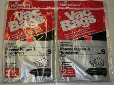 VACUUM CLEANER HOOVER FUTURA SPECTRUM S BAGS NEW 2 X 2 LOT OF 4 BAGS