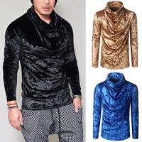 Men's Warm High collar shirts Sweatshirt turtleneck sweater Long Sleeve Tops