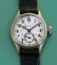 BULOVA USA Vintage 1940's US Army Ordinance Red 24 hour Dial Men's Watch