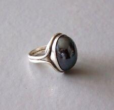 HANS HANSEN Ring, Vintage, Sterling Silber, Hämatit