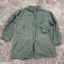 Vintage Army Military Vietnam War Era Fish Tail Parka Trench USMC Coat Jacket
