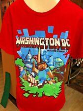 """Washington DC """" IMAGINE A WORLD """" MINDCRAFT FIGURE STYLE T SHIRT MED BX7"""