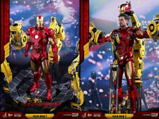 Hot Toys 1/6 MMS462D22 Iron Man 2 Mark 4 IV with Suit-Up Gantry Diecast In Stock