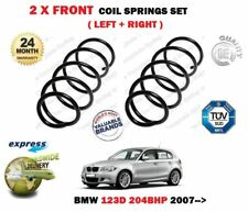 FOR BMW 123D 204BHP E81 E87 E82 E88 2007->NEW 2X FRONT COIL SPRINGS SET