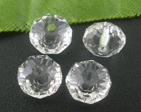 350 Klar Kristall Facettiert Böhmische Glasschliffperlen Beads 8mm