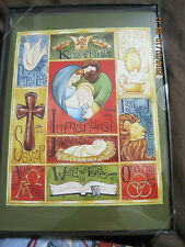 New Christmas 20/pk Names of God Bible christian Cards decorated env/inside box*