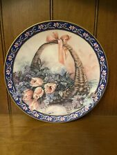 Tulips And Lilacs - Lena Liu's Basket Bouquets Limited Edition Collector Plate