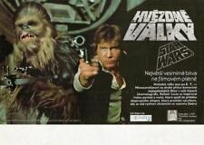 RARE ORIGINAL STAR WARS A NEW HOPE UNUSED MINT CZECH FILM POSTER