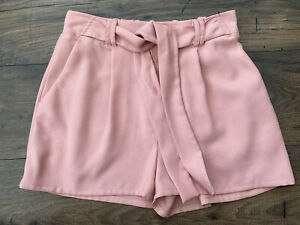 Ladies New Look Tie Waist Pink Shorts - Size 10