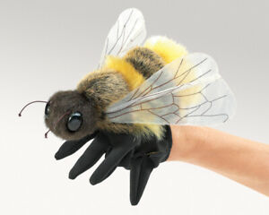 NEW PLUSH SOFT TOY Folkmanis 3028 Honey Bee Glove Hand Puppet
