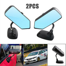 2PCS F1 Style Carbon Fiber Universal Car Side Blue Rearview Mirror Metal Bracket