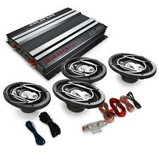4.0 CAR AUDIO SET 4X 3-WAY SPEAKERS AMPLIFIER AMP 2400W *FREE P&P SPECIAL OFFER
