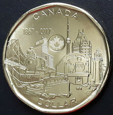CANADA 2017 CANADIAN LOONIE 1 One Dollar (150 Series) Connecting A Nation COIN.