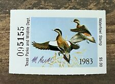 WTDstamps - 1983 TEXAS - State Duck Stamp - Mint OG NH **ARTIST SIGNED**