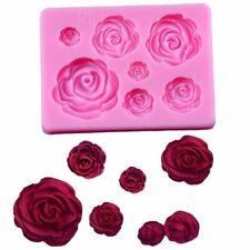 3D Silicone Mold Rose Flower Sugarcraft Fondant Cake Mold Chocolate Gumpaste DYI