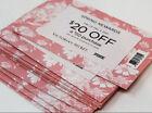 Victoria Secret $20 Off $50 Purchase Spring Rewards Card Feb24- Mar 9 Gift 2021 For Sale