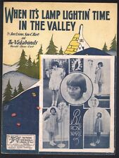 When It's Lamp Lightin Time in the Valley Rose Marie Dick Van Dyke TVSheet Music
