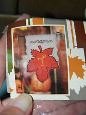 """Kirkland's Fall Autumn Leaf Harvest Garden Flag with Stand Initial """"T"""""""
