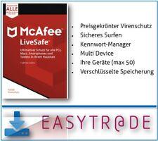 McAfee LiveSafe 2018 unbegrenzte Geräte / 1 Jahr Vollversion