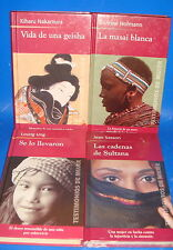 Libro 4 libros TESTIMONIOS DE MUJER-Diferentes autores