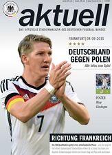 Programm LS 4.9.2015 Deutschland - Polen in Frankfurt inkl. Poster Gündogan