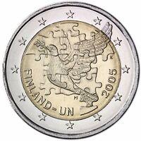 Finnland 2 Euro 60 Jahre Vereinte Nationen UN 2005 Gedenkmünze bankfrisch