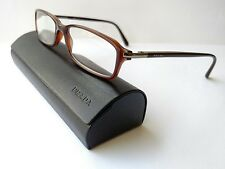 Prada square Brown tortoise eyeglasses frames