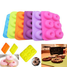 6-Cavity Doughnut Cake Chocolate Candy Soap Silicone Mould Dessert Baking Mold ~