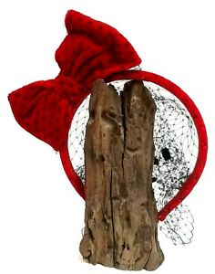 Authentic Red Valentino Italy Red Bow Velvet Headband