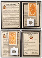 USSR 1925 Silver 20 Kopek Coin and 50 Kopek Banknote Set Album with COA SKU47196