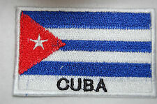 Ecusson brodé patch thermocollant Drapeau CUBA
