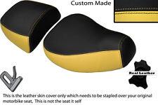 Negro Y Crema Personalizada encaja Piaggio Vespa LXV 125 150 Delantero Trasero de cubiertas de asiento
