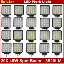 20X 48W LED Work Light Spot Lamp Offroad Truck SUV ATV JEEP Boat 12V 24V 6000K