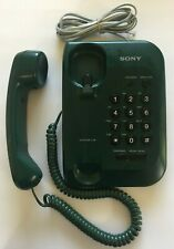 Vintage Sony for desktop us large button phone forest green memory IT-B2