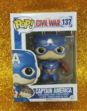 FUNKO POP MARVEL CAPTAIN AMERICA CIVIL WAR #137 CAPTAIN AMERICA~VINYL FIGURE 🛎️