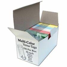 Multi-Color Genuine Versa-Tag Key Tags, Self-Protecting 250 tags per box