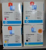 Genuine HP Color LaserJet Print Cartridges - Yellow, (2) Black, Cyan, & Magenta