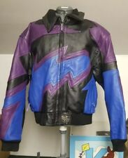 Nwot 90's Men's Leather Cold Wave Brand Racing Jacket Snowmobile motorcycle L/Xl
