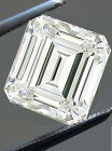 2.02 ct VVS1/7.45MM GENUINE ICE H-I WHITE EMEREALD COLOR LOOSE MOISSANITE 4 RING