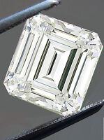 1.85 ct VVS1/7.38 MM GENUINE I-J WHITE EMEREALD COLOR LOOSE MOISSANITE 4 RING